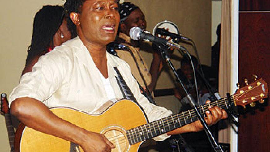 Lokua Kanza was the guest performer at the event.Rwanda