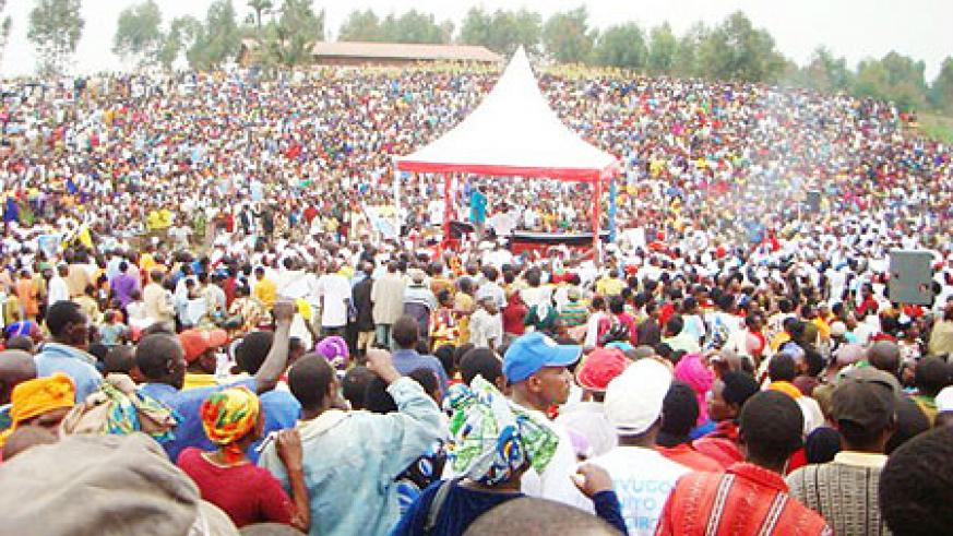 The second PRF rally attracted a mamoth crowd on Sunday. Photo A.Gahene
