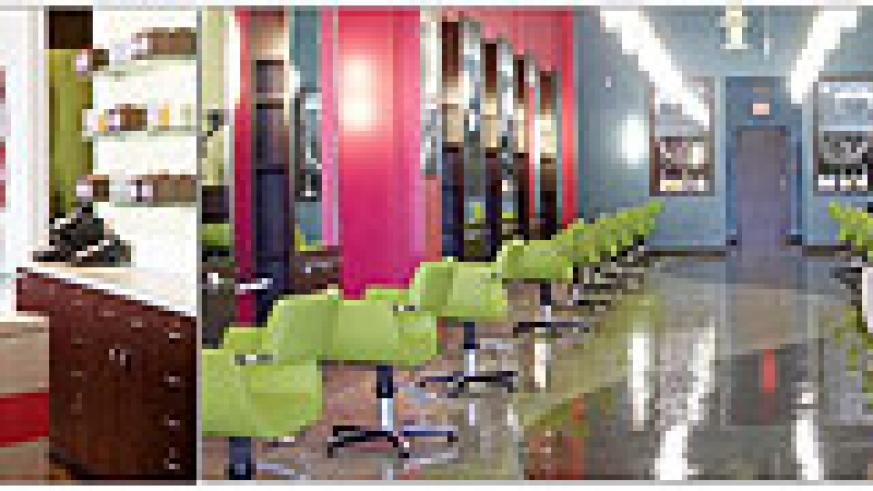 L-R : Eliminating clutter and promoting a fresh and airy atmosphere is also important ; Having quality lighting is vital for a salon ; Tall mirrors that almost reach the ceiling will create the illusion of more space