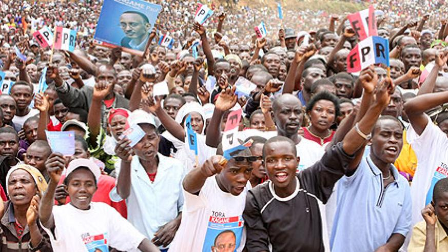 President Kagame's campaigns have been attracting hundreds of thousands wherever he goes (Photo Adam Scotti)