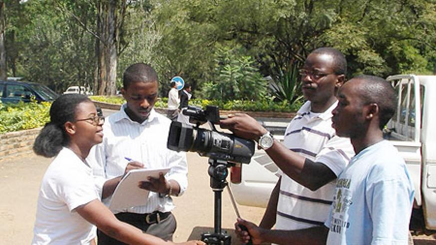 NUR students prepare for the film production competition. (Courtesy photo)