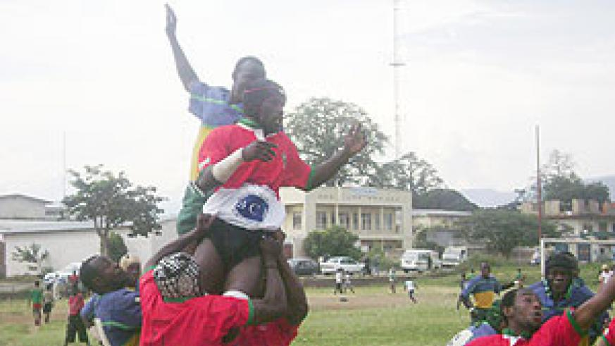 Silverbacks and Burundi players during a past regional tournament.(File Photo)