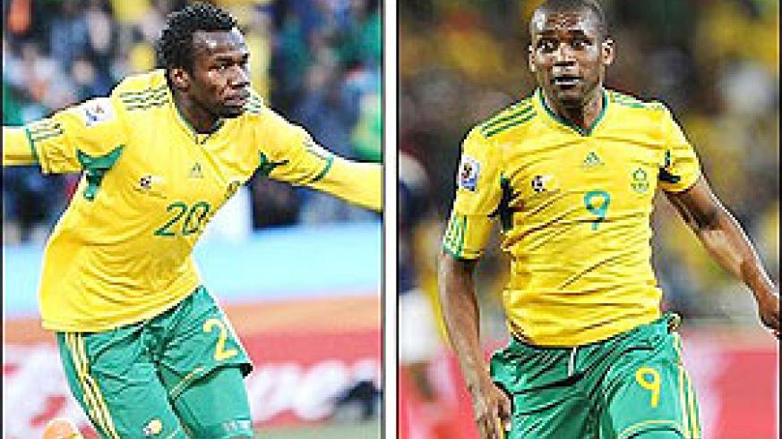 Khumalo and Mphela scored the goals that beat France in the World Cup finals