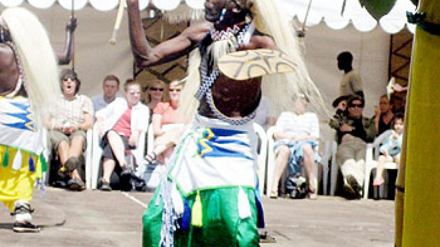 The Rwandan traditional dance is a major tourist attraction