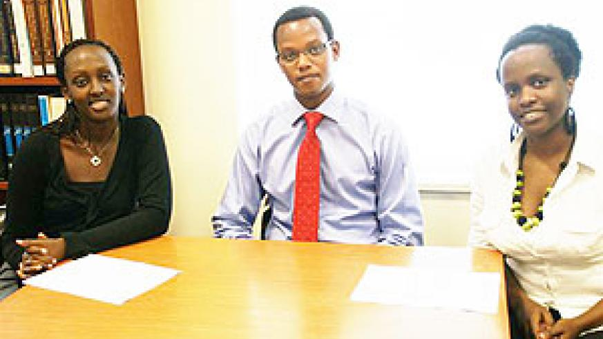 From right is Mukundwa, Sebuhoro and Inkesha at the American embassy (Courtesy Photo)