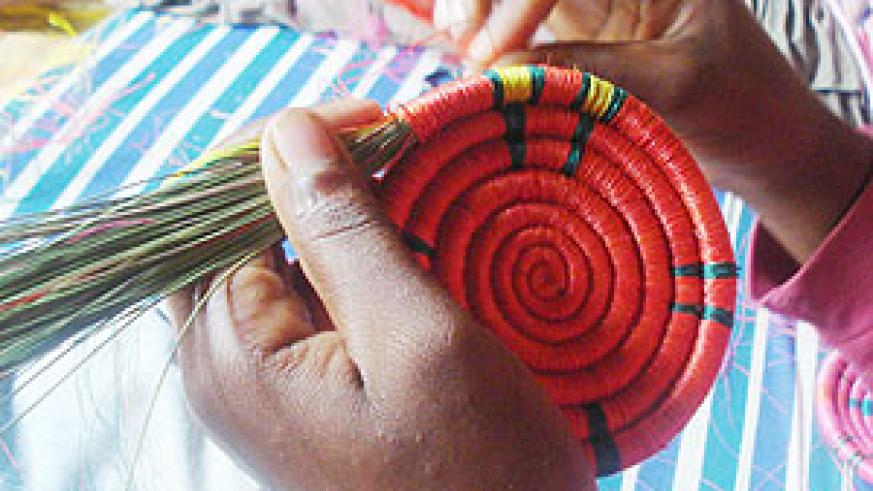 Basket weaving is one way in which women in Rwanda have generated sustainable income.