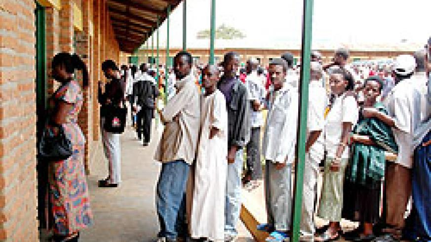 Citizen queue to cast their vote in a previous election. All is set for the polls due to take place on Moday next week (File Photo)