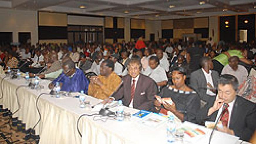 Some of the electoral observers at the briefing with NEC officials yesterday (Photo: F. Goodman)