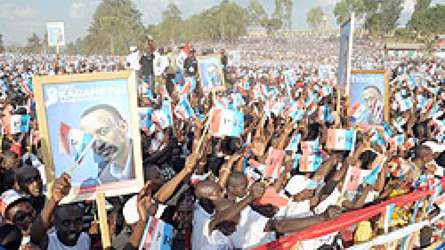 RPF supporters were excited to see their candidate (Photo: J. Mbanda)
