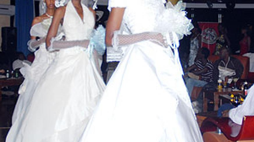 Bridal gowns.