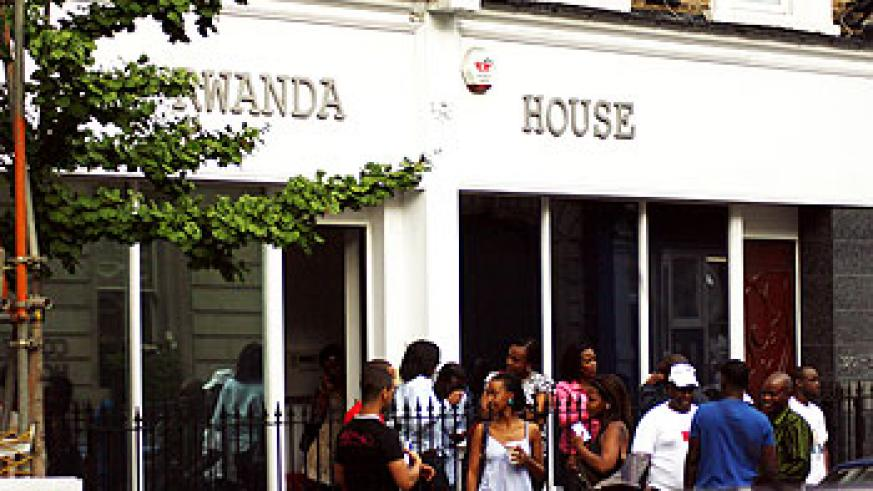Rwandans in the UK line in front of the Rwandan High Commission in London to cast their vote yesterday (Photo/ T. Kavutse)