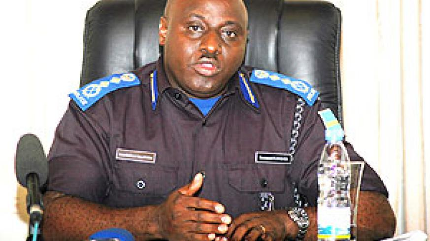 Commissiner General of Police Emmanuel Gasana.
