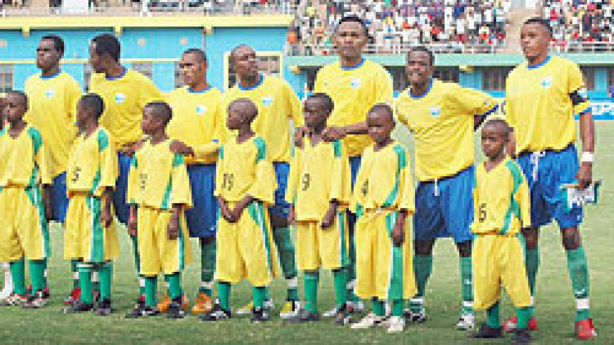Rwanda's national football side, the Amavubi Stars has improved by just a single place and coach Sellas Tetteh has alot of work to do. (File photo)