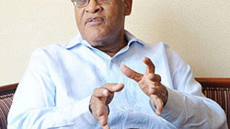 Dr Salim Ahmed Salim during the interview yesterday (Photo F Goodman)
