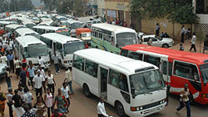 A busy commuter terminal in downtown, commonly known as kwa Rubangura.