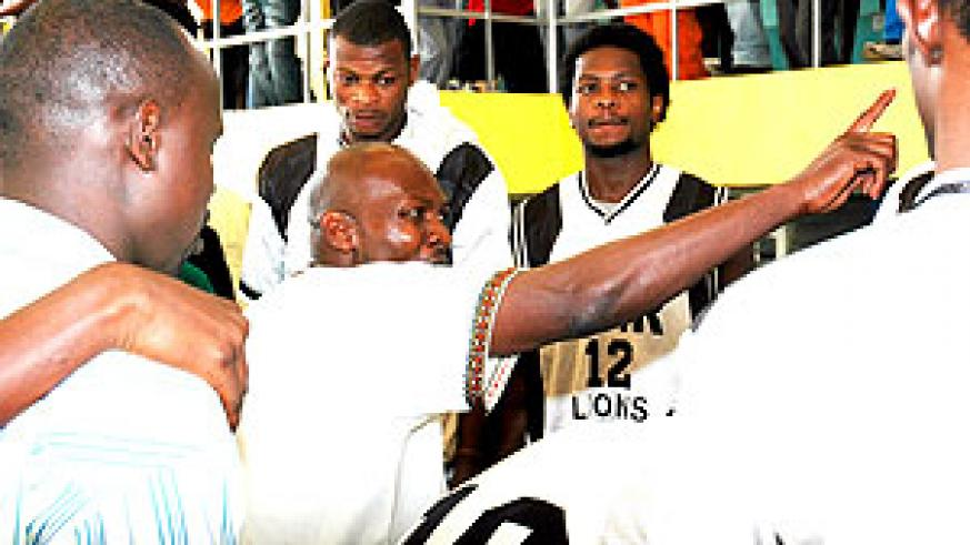 APR's Kenyan coach Cliff Owour gives instructions to his players during a past event in Kigali. (File photo)