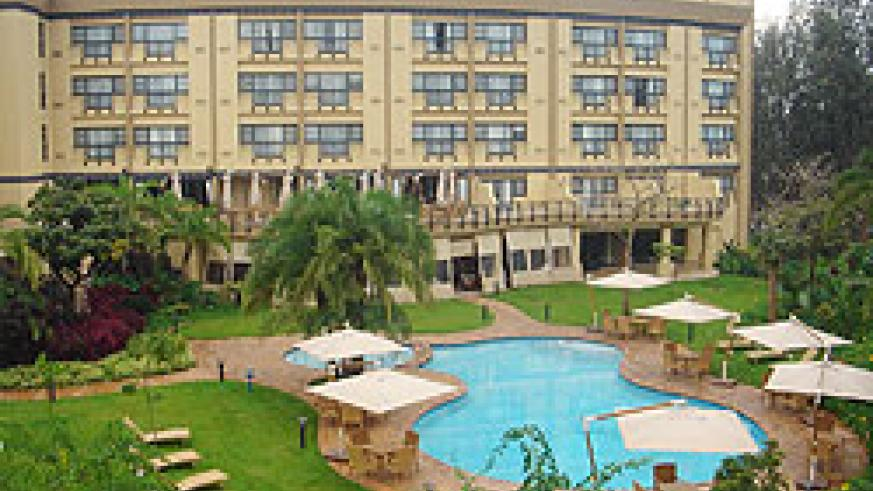 The pool side of the Kigali Serena Hotel (File Photo)