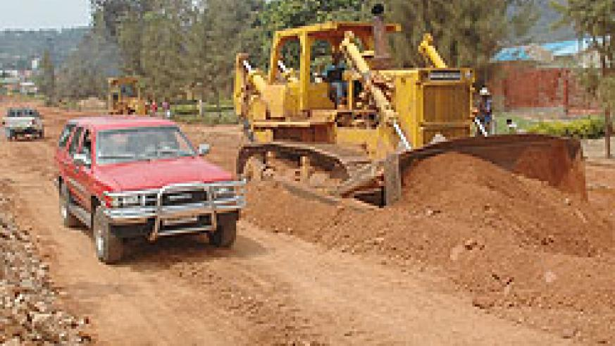 Construction works on the Nyamirambo road. KCC has announced new works on further 34kms of City roads. (File photo)