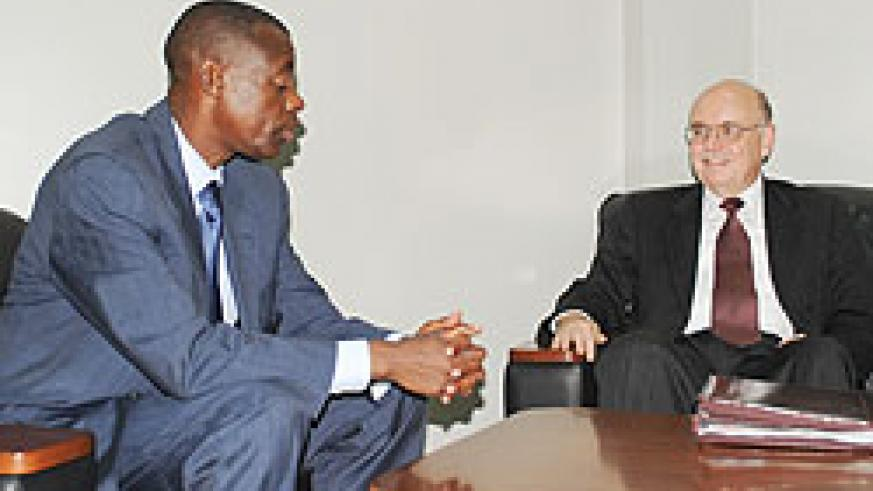 Minister James  Kabarebe meeting with Roger A. Meece ( Photo F. Goodman).