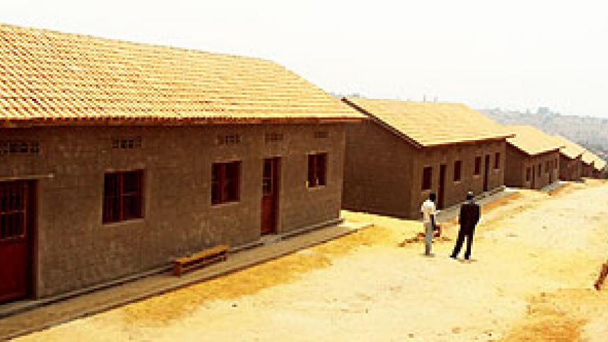 A cross section of houses to be given out in Gahanga sector. Photo G. Mugoya