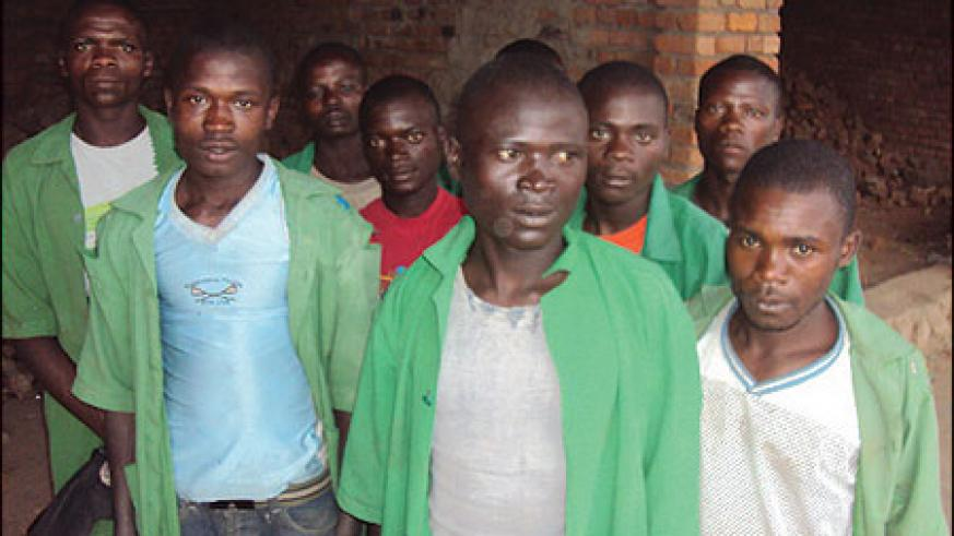 Some of the former street children pose for a group photo opportunity at their rehabilitation centre. (Photo / B. Mukombozi)