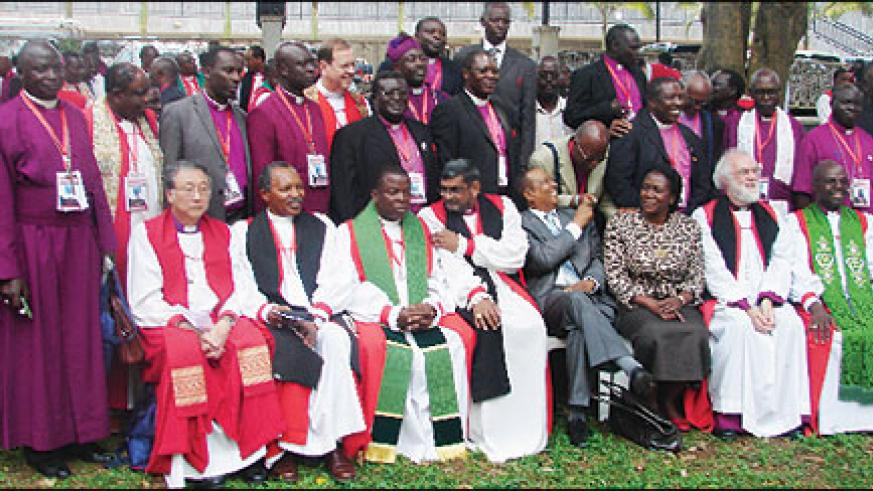 African bishops pose for a photo after the Bishops Conference in Kampala yesterday (Photo G. Muramira)