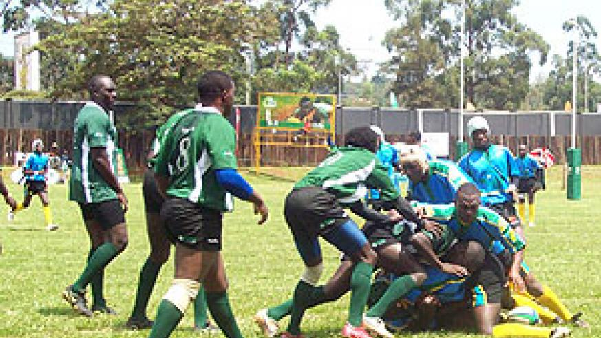 Silverbacks in action during a past regional tournament. The team will this weekend compete in the Priscloo 7s in Nakuru. (File Photo)
