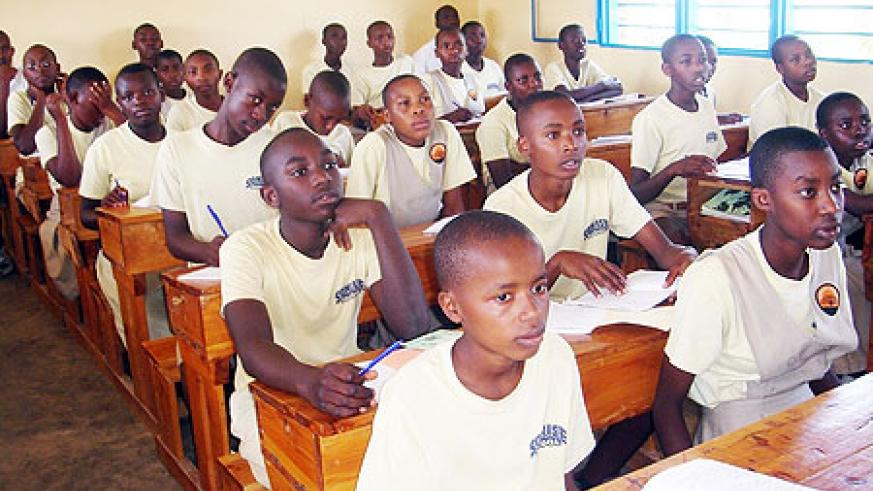 Primary school pupils in class. Government has moved to introduce health lessons in elementary schools (File Photo)