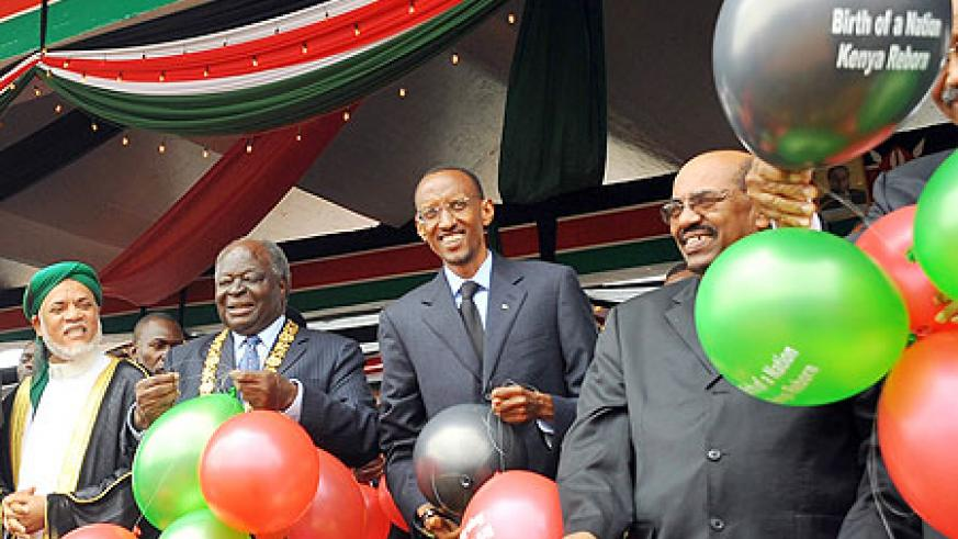 President Kagame joined several other African leaders in Nairobi to witness the birth of Kenya's new constitution