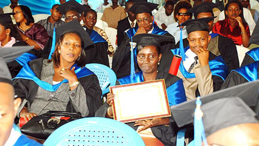 A group of SFB students after their graduation recently. The school has added CPA course on its curriculum to boost quality (File Photo)