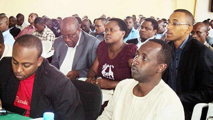 A cross section of Southern Province local leaders attending the meeting (Photo: D. Sabiiti)