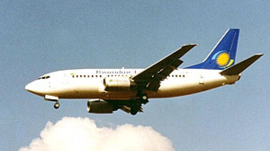 One of the RwandAir's two newly acquired Boeings (File photo)