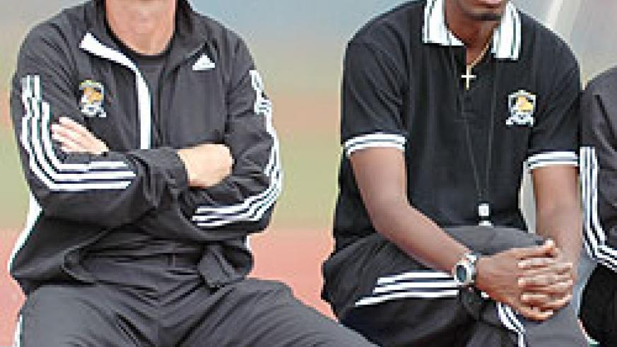 Erik  Paske (L) has ended his time at APR and he will be replaced by former Rwandan international Eric Nshimiyimana (R), who has been his assistant.