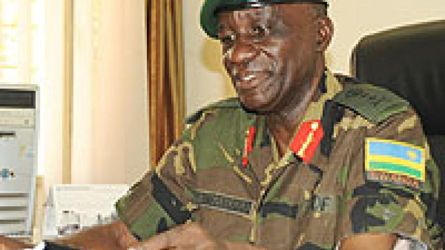 Maj Gen Paul Rwarakabije during the interview (Photo T Kisambira)