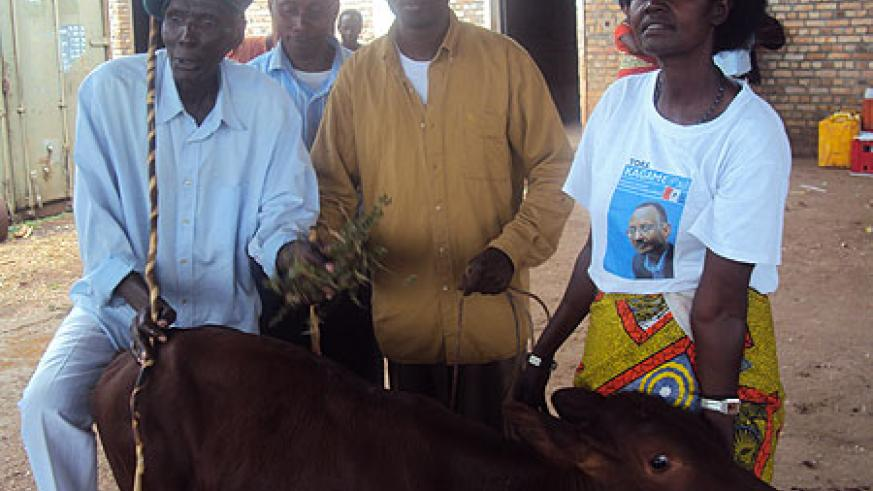 Residents of Rusave village donated cows to other needy residents  as part of the celebrations. (Photo S. Rwembeho.)