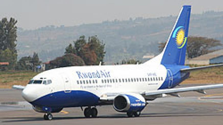 The newly acquired RwandAir plane (File photo)