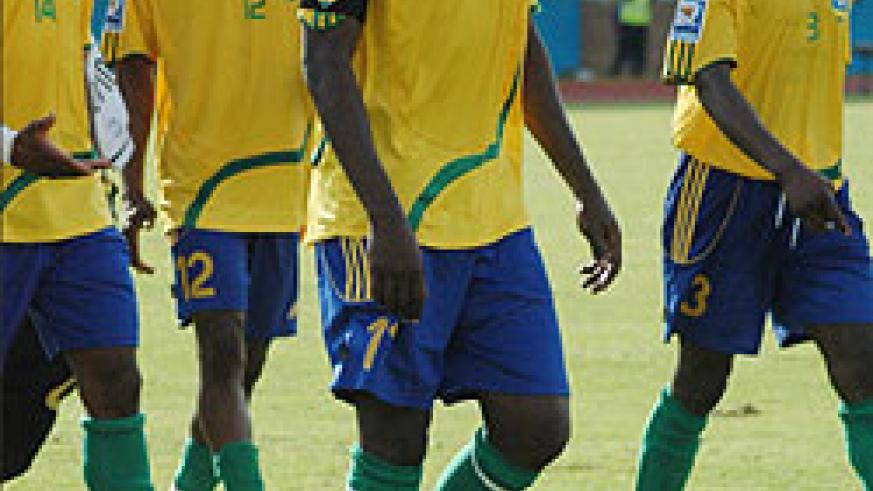 It is still uncertain if any of the four professionals will be called upon for the Benin qualifier. From far left-Abedi Makasi, Saddou Boubakary, Olivier Karekezi and Hamad Ndikumana Katauti. (File photo)