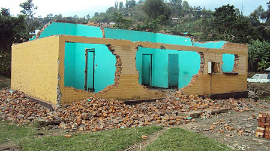 The demolition of houses such as this one has not gone well with residents (Photo: S. Nkurunziza)