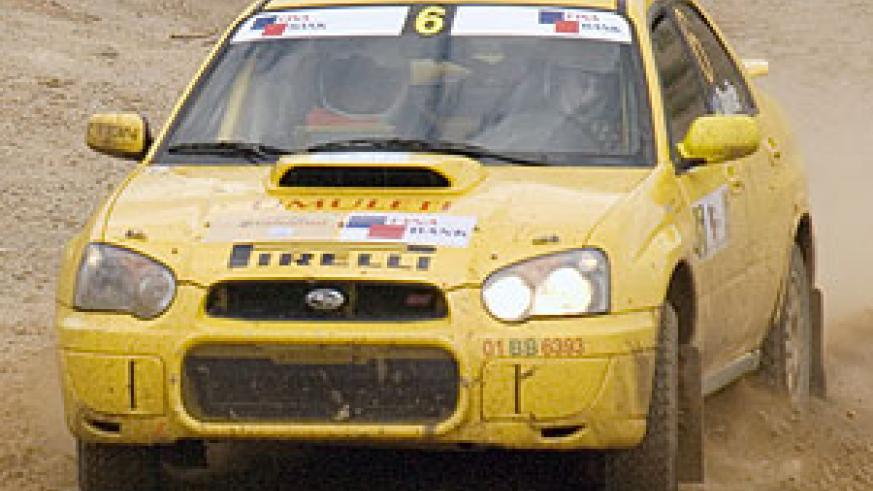 Davite Giancarlo cruises his yellow Subaru during the 2007 Irushanwa rally. (File photo)