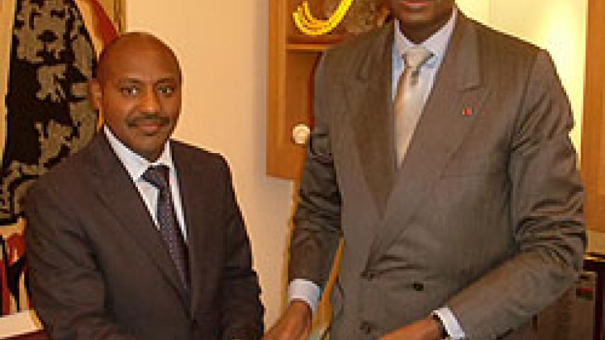 Amb Kabale with former Senegalese President, Abdou Diouf (courtesy photo)