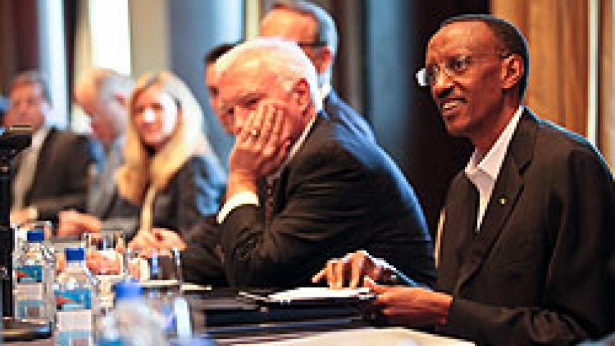 President Kagame chaired the PAC meeting on Saturday (Photo  Urugwiro Village)