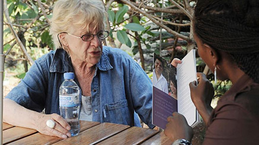 Annemarie Prins during the interview. (Photo by T. Tasamba).