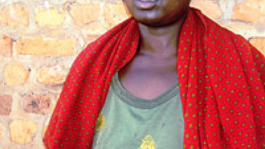 Nabed-Domina Mukarangwa  says she is a Good Smaritan and not a child  trafficker. Photo by S. Rwembeho.2