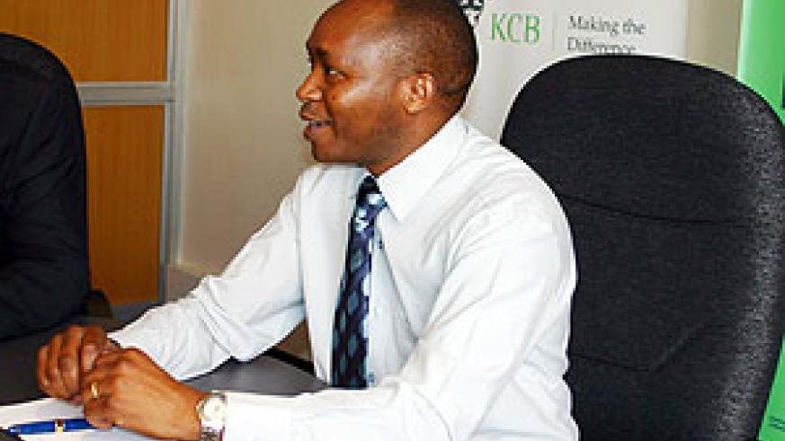 Maurice Toroitich the Managing Director of KCB Rwanda