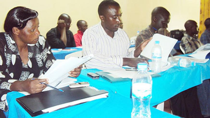 Local  medics during the workshop in which they were cautioned on accountability. (Photo: S. Nkurunziza)