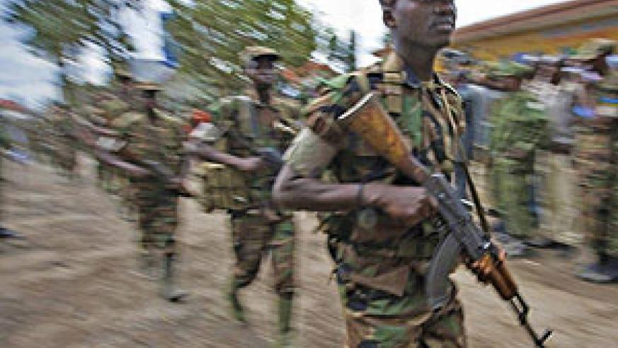 HEROIC: RDF soliders leaving the DRCongo after accomplishing their mission.