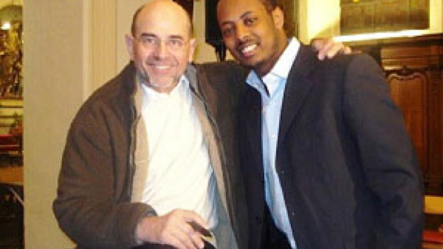(L-R) Kizito Mihigo and Jean Claude Gianadda  (photo file).