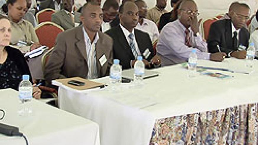 Some of the officials attending the Joint Health Sector Review meeting in Rubavu yesterday (Courtesy Photo)