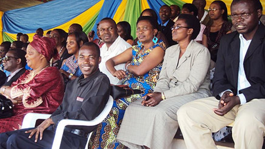 A cross section of teachers who turned up to celebrate World Teacher's Day in Huye (Photo; P. Ntambara)