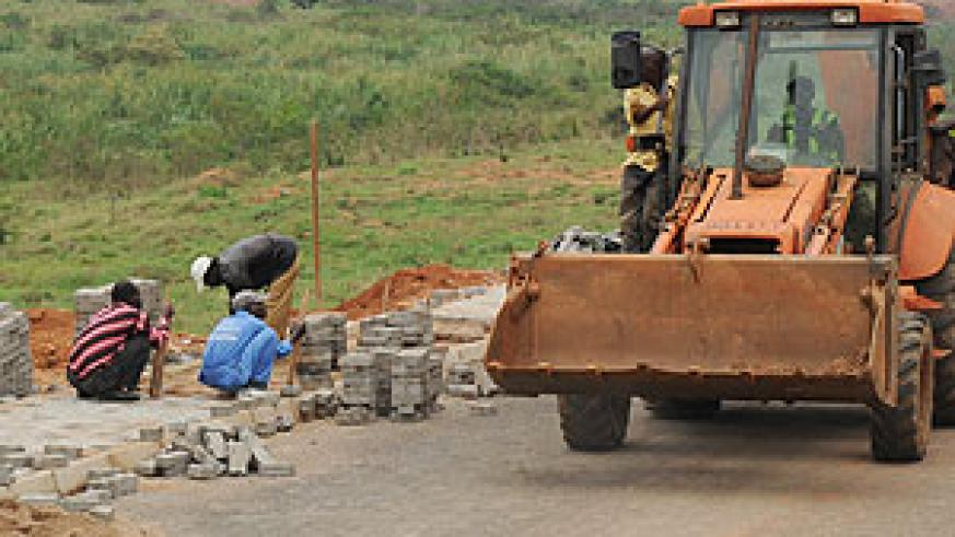 Construction works taking place at the Kigali Special Economic Zone